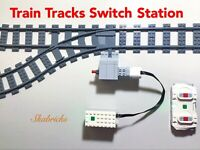 🔥LEGO Motorized Train Tracks Switch Station With Powered Up Power Function MOC