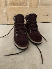 New Clarks Size 5 Artisan Dark Brown Suede Hirers Waterproof Boots
