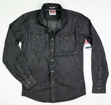 New Wrangler Long Sleeve Denim Shirt Four Colors Slim Fit Men's Sizes S-3XL