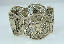 Vintage Intricate Silver finish Bracelet - Cleopatra