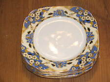 Rare Lot of 6 Royal Albert Crown China HAWTHORNE Bread Plates England 1927-1935
