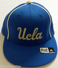 NCAA UCLA Bruins Adidas Youth Athletic Fitted Cap Flat Brim Hat NEW!
