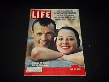 1959 JULY 20 LIFE MAGAZINE - INGEMAR JOHANSSON - BEAUTIFUL FRONT COVER - GG 757