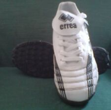 Errea Stadium Turf Shoes, White upper, with Black Rubber Sole, Adult UK 7, New