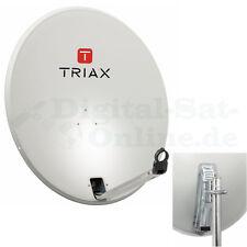 ► original triax haute précision acier sat miroir 88 cm tds88 neuf gris clair