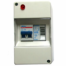 DOUBLE POLE CONSUMER UNIT MAINS 230V & POLARITY WARNING CAMPER HORSE BOX CARAVAN