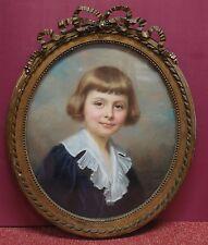 Marie D'EPINAY: Portrait au pastel du jeune garçon Pierre Soyer de Bosmelet