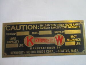 Id Nameplate s35 Kenworth US Truck