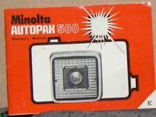 Minolta Autopak 500 Owner's Manual