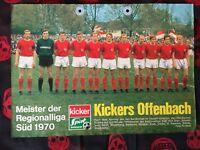 Poster mit 6 Autogrammen KICKERS OFFENBACH 69/70-R.Weida †-Fans/Geschenk-79/17