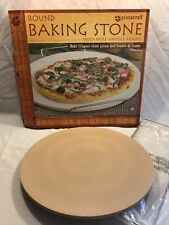 """Pizzacraft 15"""" Round Ceramic Baking Pizza Stone with Wire Frame NEW FREE SHIP"""