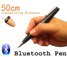 1 Micro Invisible Spy Earpiece Hidden Bluetooth Pen Wireless Covert Earphone Bug