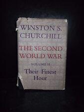 Winston Churchill The Second World War Vol II Their Finest Hour 1st Ed