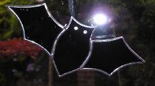 Vidrieras Negro Murciélago, Halloween, Suncatcher Hecho a Mano en Inglaterra