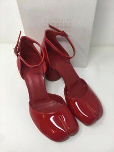 MAISON MARTIN MARGIELA Patent Leather Tabi Pumps - Red - UK 7/EU 40