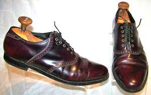 FLORSHEIM Imperial 93328 Burgundy Leather Plain Toe Oxford Men's Shoes US 11 D