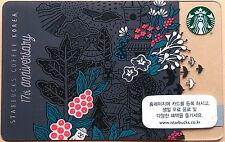 Starbucks KOREA Exclusive 17th Anniversary Black Card