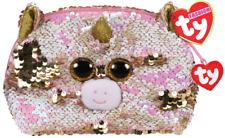 "2019 TY Flippables Sequins 8""W Fantasia unicorn Fashion Accessory Cosmetics Bag"