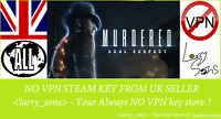 Murdered: Soul Suspect Steam key NO VPN Region Free UK Seller