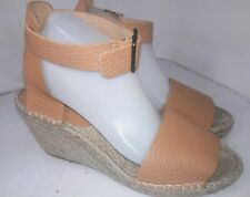 J Crew Corsica tumbled leather espadrille wedges Camel F1375 Womens Size 10