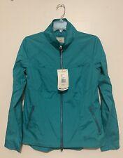 Royal Robbins Women's Pack-N-Go Light Jacket Windbreaker Rain Coat, Teal Green M