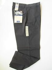 Dockers men's Dark Gay Khaki cotton Chino pants 32x32 Flat front relaxed fit New