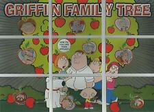 """Family Guy Season 2 - """"Griffin Family Tree"""" 9 Card Puzzle Chase Set  #FT1-9"""