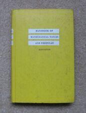 Handbook Of Mathematical Tables And Formulas Burington 1965 Hardcover