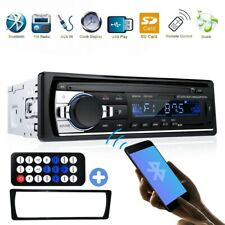 1 DIN Car Stereo Radio Bluetooth In Dash Handsfree SD/USB AUX Head 12V FM Unit