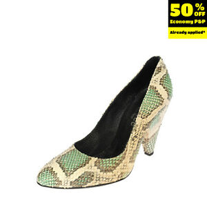 RRP €160 UNLACE Leather Court Shoes EU 39 UK 6 US 8.5 HANDMADE Snakeskin Pattern