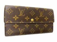 Auth Louis Vuitton Monogram Browns Portefeuille Sarah Long Wallet LV 59919172.2