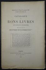 Catalogue de bons livres de la bibliothéque de M. le Marquis de R**** / 1891