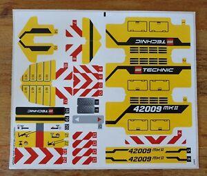 Original Aufkleber / Sticker LEGO Technic 42009 - Mobiler Schwerlastkran, Neu