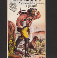 Wild West c 1876 Annapolis Oysters Cowboy Miner Libby McNeill Meat Ad Trade Card