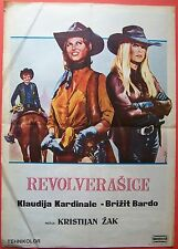 LES PETROLEUSES-BRIGITTE BARDOT/C.CARDINALE-ORIGINAL YUGOSLAV MOVIE POSTER 1973