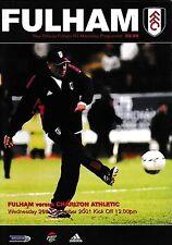 Programa de fútbol Fulham v Charlton Athletic > 2001 de diciembre