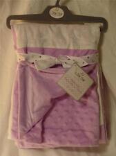 New Little Star Girls Purple & White Reversible Minky Dot Patchwork Mink Blanket