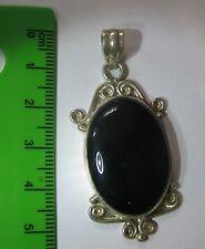 Silver  Onyx Gemstone Pendant