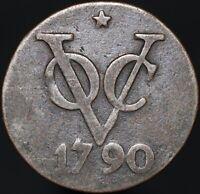 1790 Star (Struck 1840-43) | Netherlands East Indies 2 Duit | Copper | KM Coins
