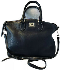 Dooney Bourke Pebble Leather Black Satchel Shoulder Bag