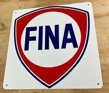 "Fina Gas Oil Station Aluminum Metal Sign 12"" x 12"""