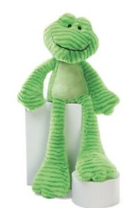 """Gund Floppy Plush Long Legs Lime Green Frog 16"""" Patches Soft Toy Animal"""