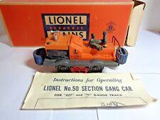 Vintage Lionel O Scale Gang Car  # 50