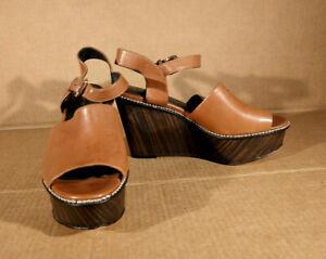 Coach Womens Harla Peep Toe Buckle Ankle Strap Studded Fashion Heels Shoe Sz 7.5