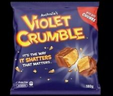 Violet Crumble 180g Bag Australian Candy Lolly Chocolate Crunchie Bar BB-03/2020