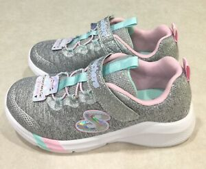 "SKECHERS ""Dreamy Lites"" Youth Girl's Light Gray Shoes~~Size 3"