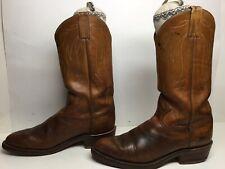 VTG MENS TONY LAMA COWBOY BROWN BOOTS SIZE 11 B