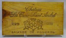 CHATEAU LA CROIX ST ANDRE  LALANDE DE POMEROL 1996 Façade caisse bois