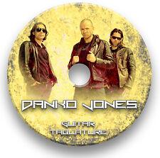 Danko Jones Rock Guitar Tab Tablatura canción libro matrícula CD de software
