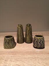 Vintage Wyncraft Lord Nelson Pottery 60s - 70s. Salt & Pepper Pots & 2 Sm Pots